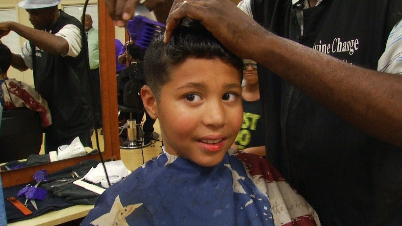 Hundreds Of Green Country Kids Get Free Back-To-School Haircuts