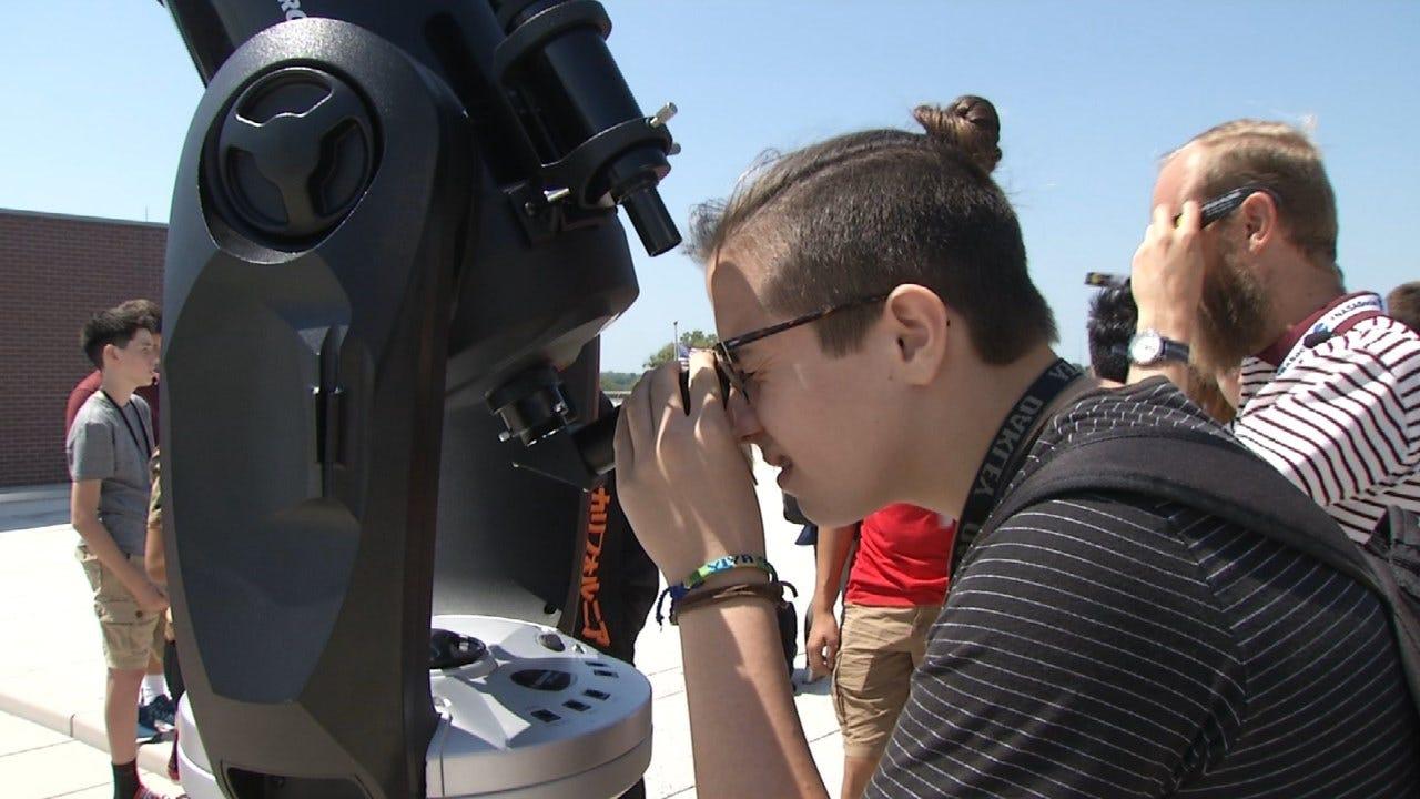 Jenks Students Get Unique View Of Total Solar Eclipse