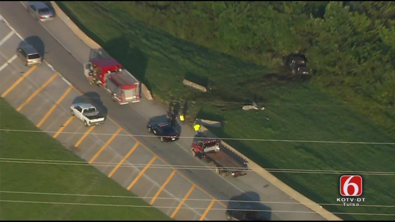 Semi Crashes Into Woods Near Hard Rock Casino