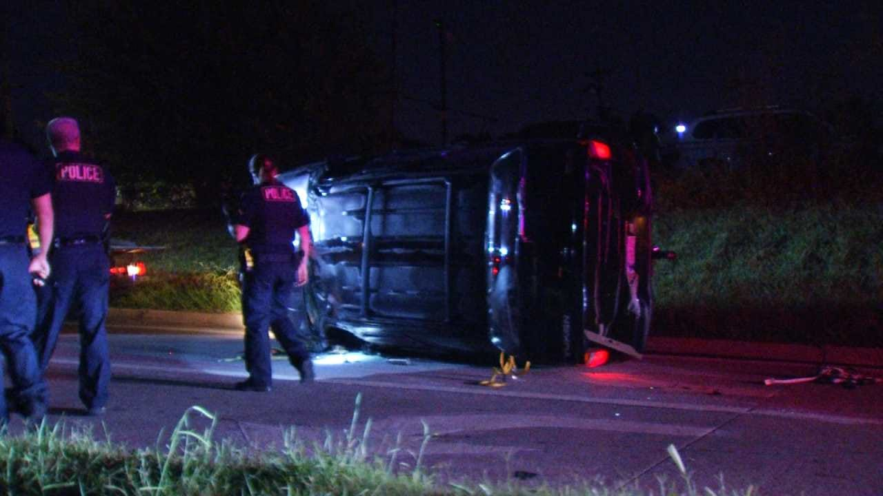 TPD Searches For Suspects Who Flip SUV After Burglary