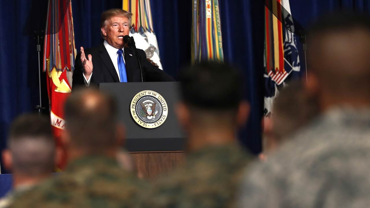 Trump Outlines New U.S. Strategy In Afghanistan