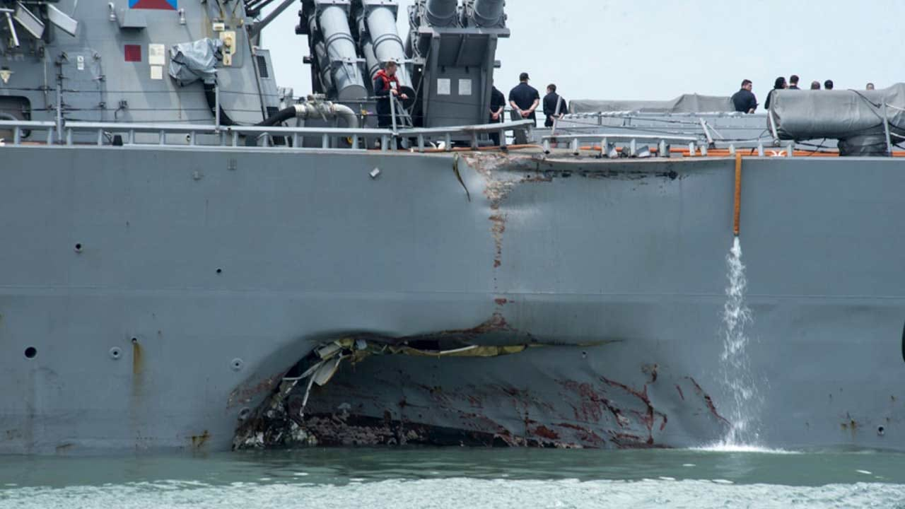 Remains Found In Search For U.S. Sailors Missing After Collision