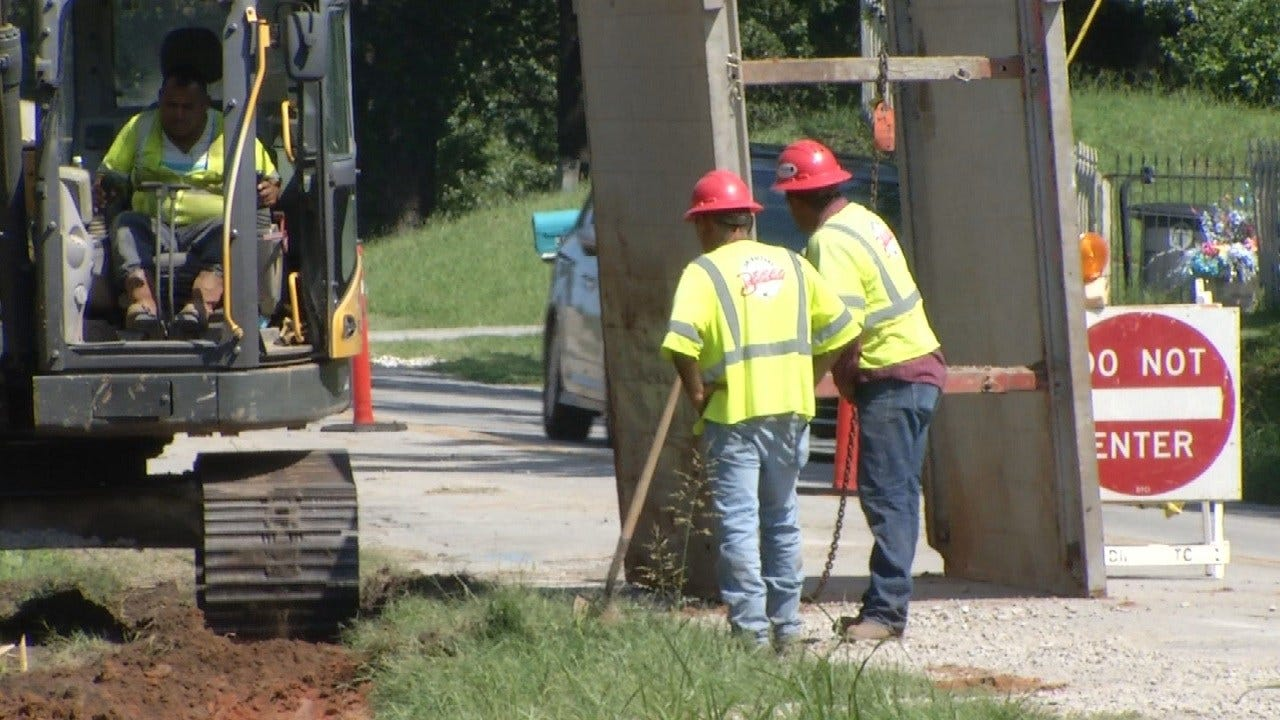 Road Construction Problems Continue For Jenks Middle School Commuters