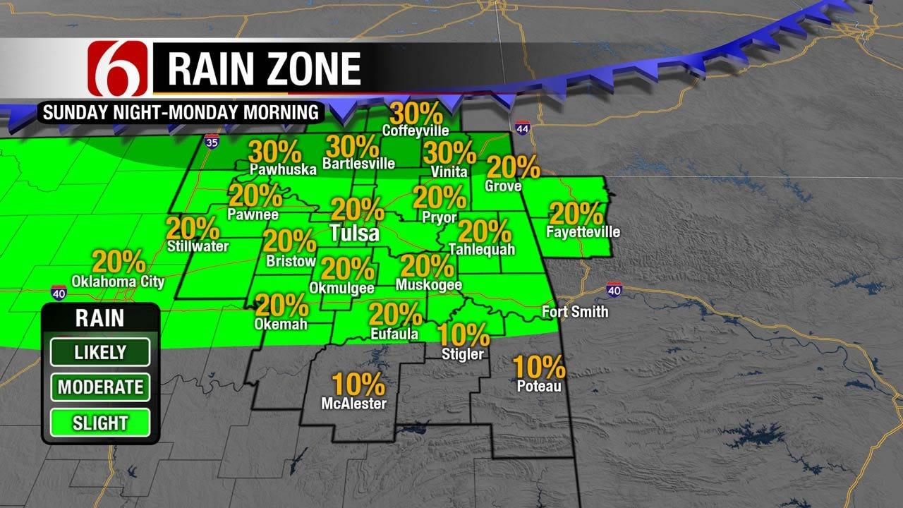 Light Morning Showers Expected Across Eastern Oklahoma