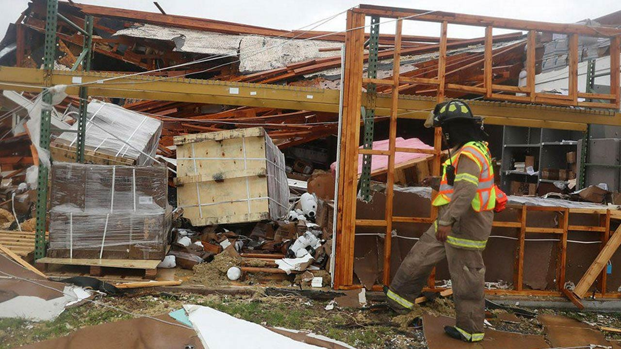 Harvey Causes Heavy Damage In Small Town Of Rockport, Texas