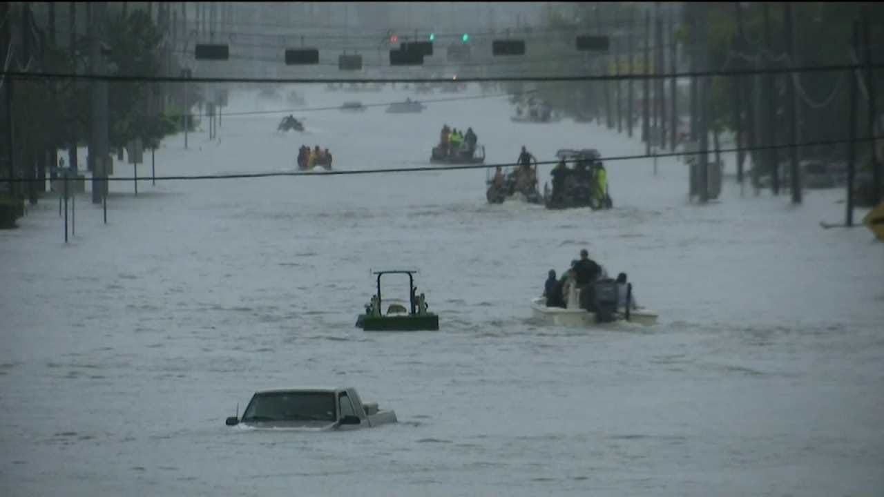 Team Coverage On Tropical Storm Harvey North Of Houston.