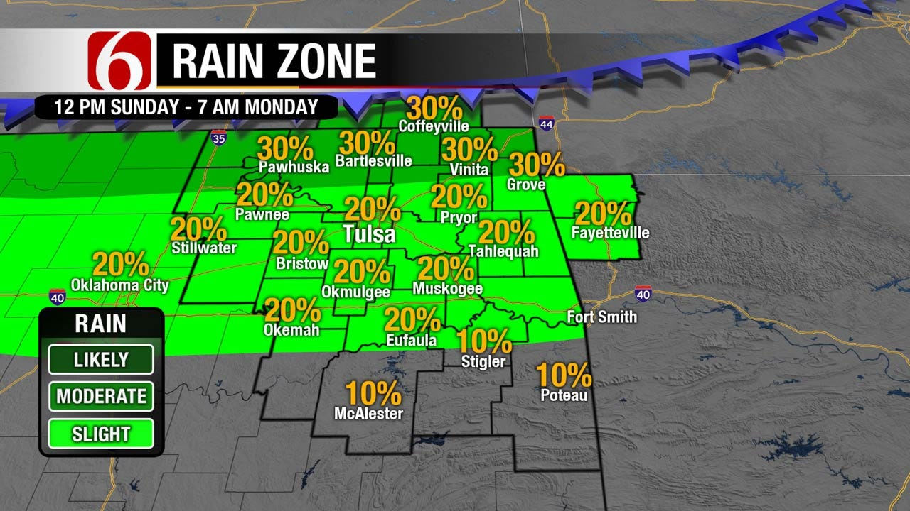 Warm, Humid Sunday Across Green Country
