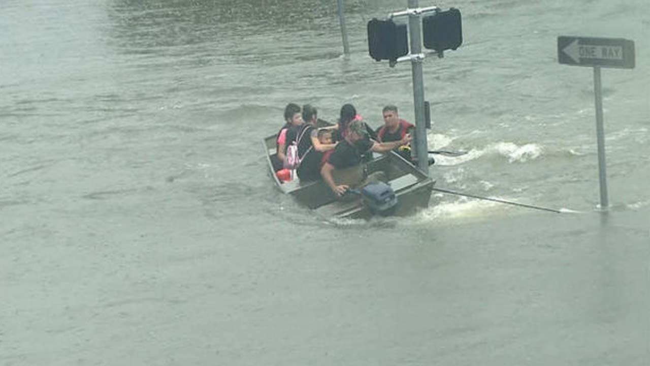 Ordinary Citizens Making Dramatic Rescues In Houston Flooding