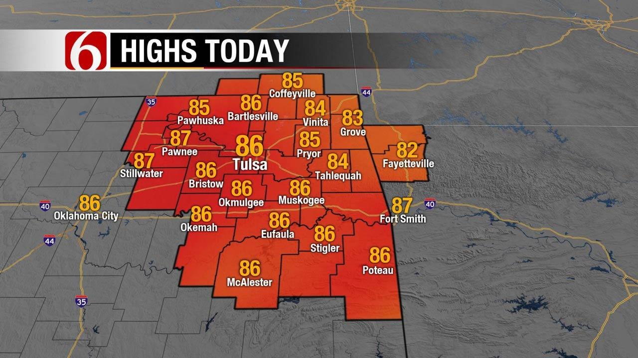 Pleasant Weather For Northeast Oklahoma