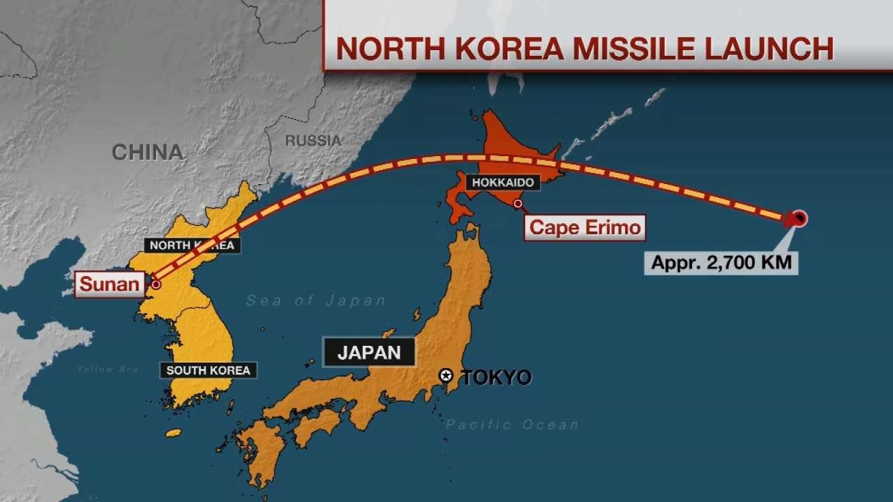 Japan 'Takes Cover' As North Korean Missile Flies Overhead