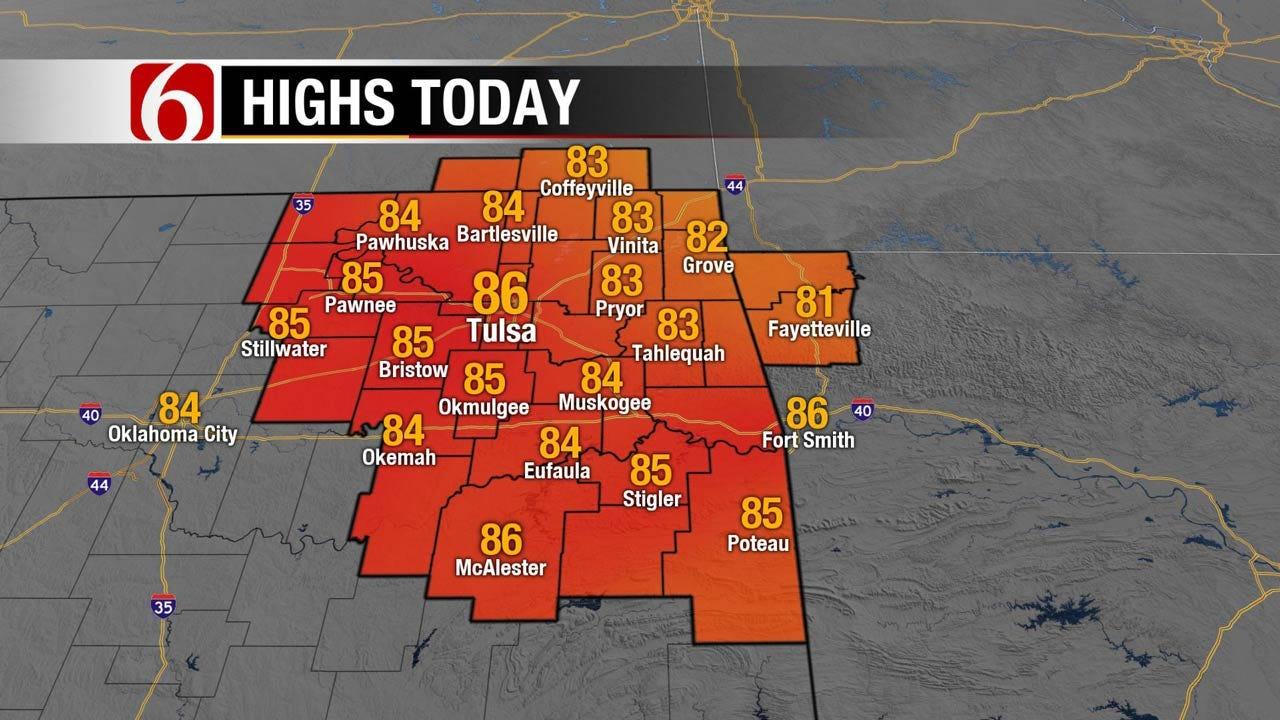 Mild Weather Forecast For Northeast Oklahoma
