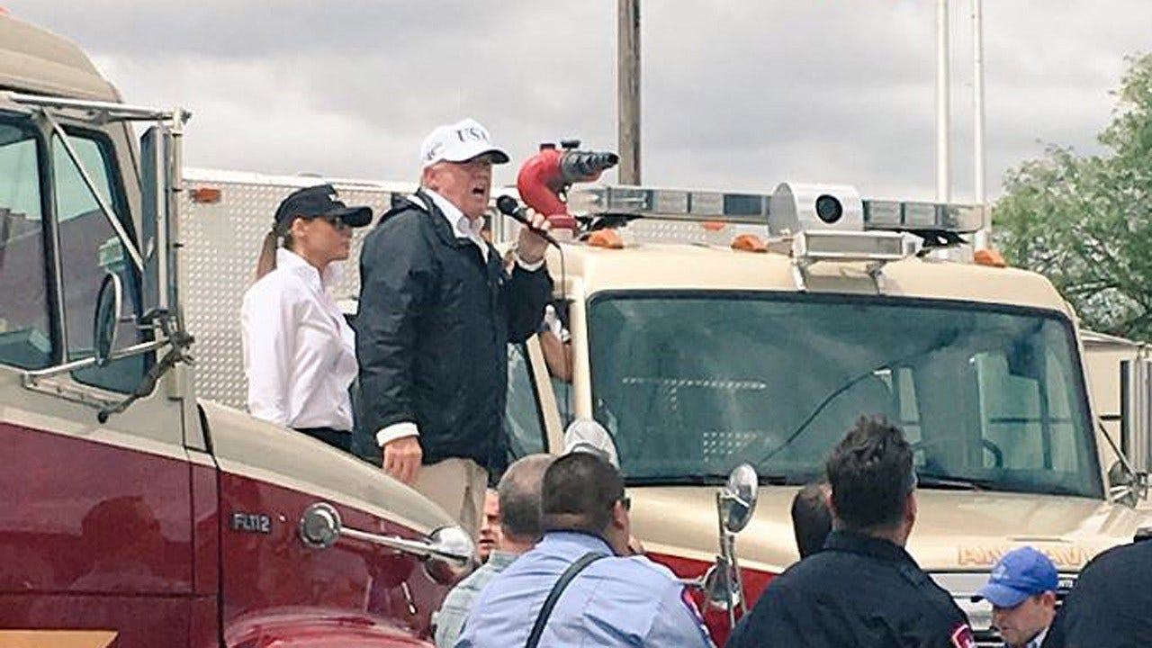 Trump Visits Texas In Wake Of Harvey