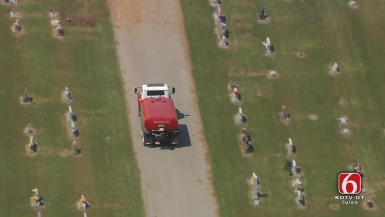 Sperry Firefighters Put Out Fire Near Cemetery