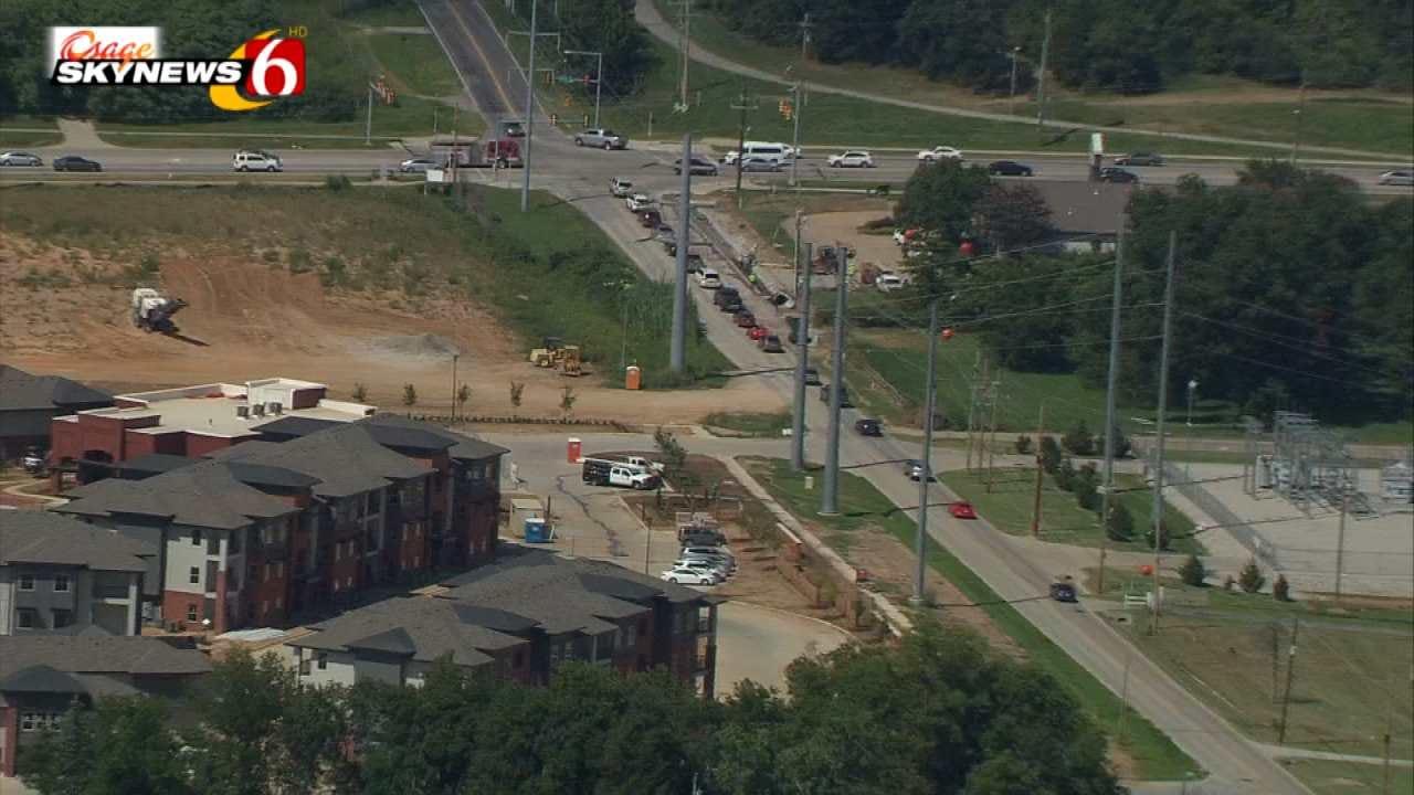 Construction Begins On Elwood Near Jenks Elementary School