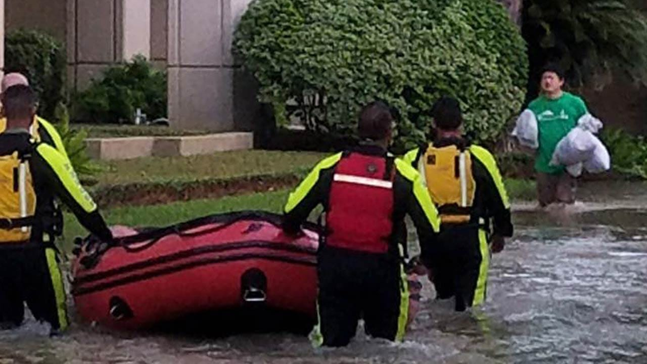 Houston: Rescue Efforts Suspended Due To Darkness
