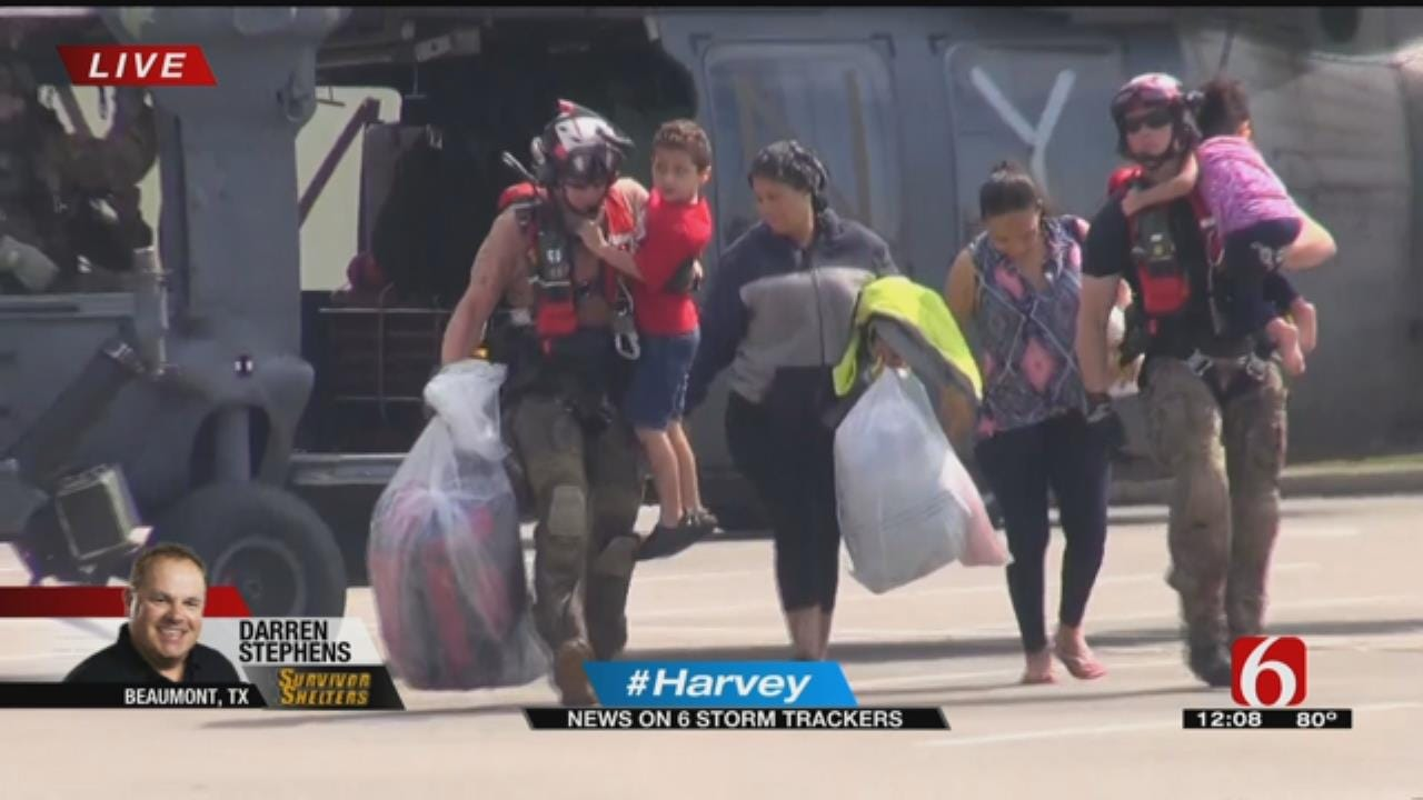 News On 6 Storm Tracker Video: Helicopter Crews Rescue Flood Victims
