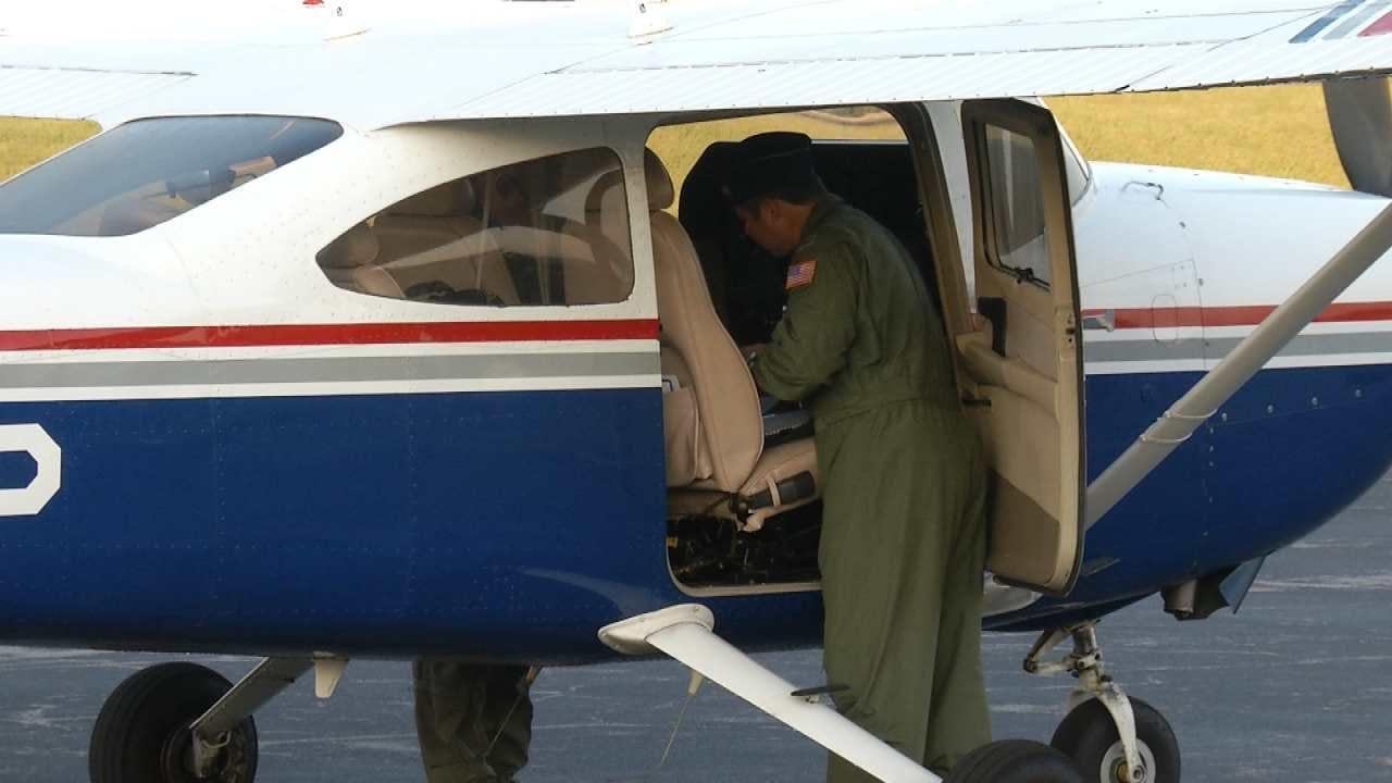 Oklahoma Civil Air Patrol Leaves For Texas