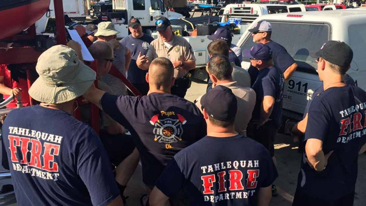 Oklahoma Swift Water Rescue Crews Help Harvey Victims