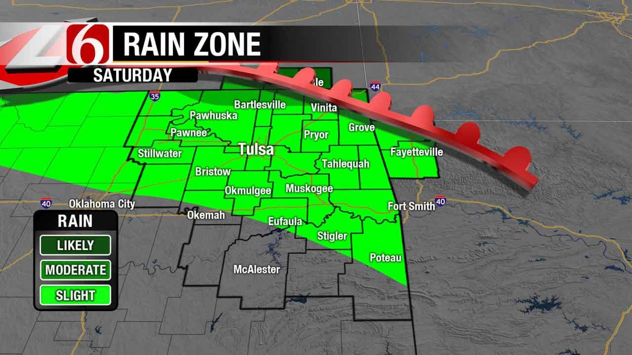 Rain Chances In Forecast For Northeast Oklahoma