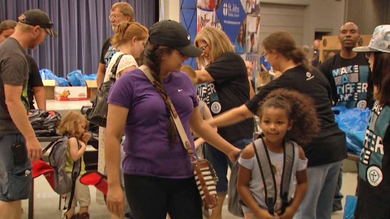 Broken Arrow Kids Attend Back-To-School Bash