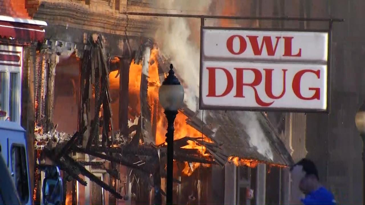 Downtown Wagoner Businesses Struggle After Fire