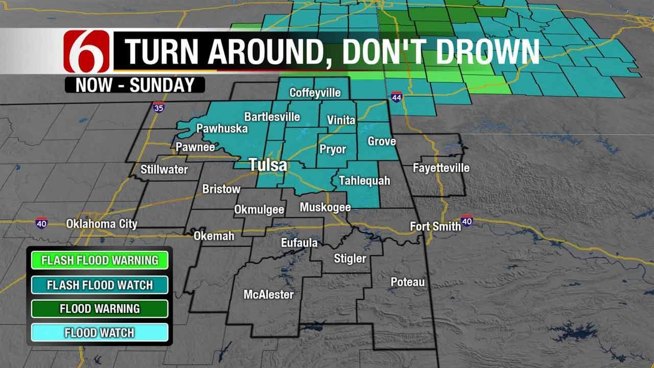 Tornado Warnings, Storm Damage In Northeast Oklahoma