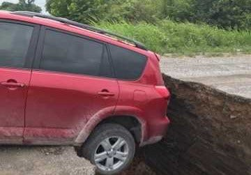 Bridge Collapses While Vehicle Crossing In Wagoner County