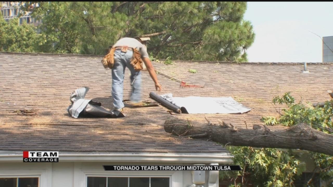 Storm, Tornado Leaves 6-Mile 'Disaster Area' In Tulsa
