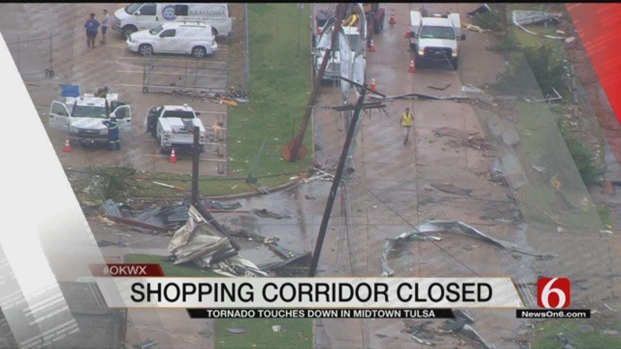Streets In Midtown Tulsa To Stay Closed Overnight Due To Storm Damage