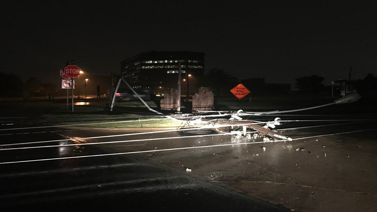 Thunderstorms, Possible Tornado Reported In Tulsa Overnight