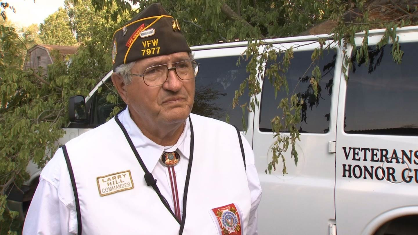 Storms Damage Tulsa VFW Honor Guard Van Used For Funerals