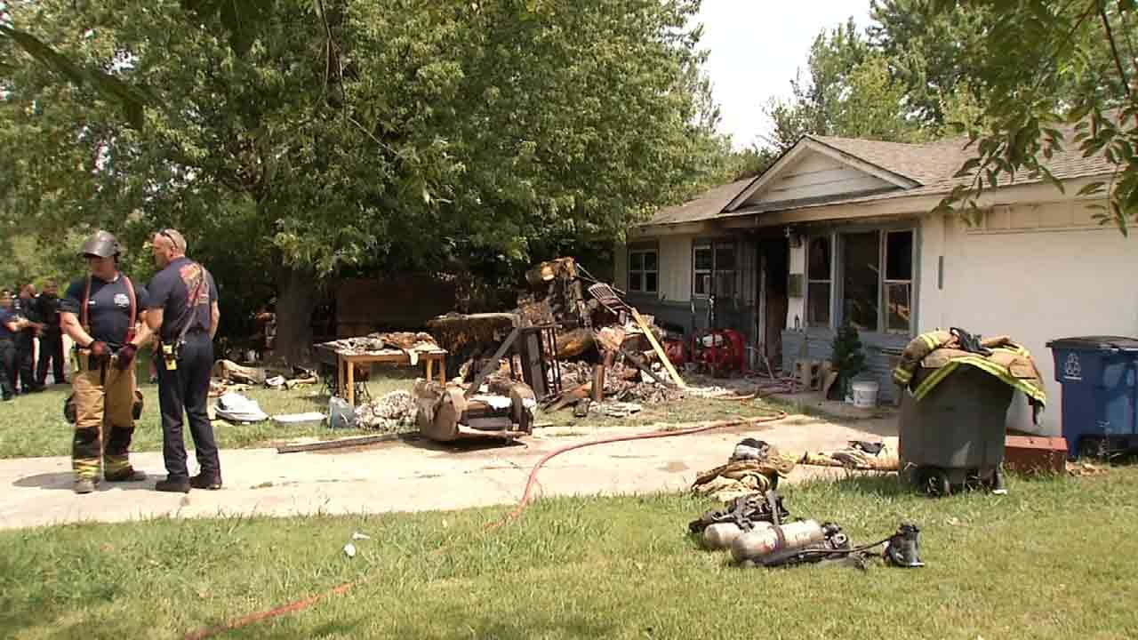 Family Displaced After Tulsa House Fire
