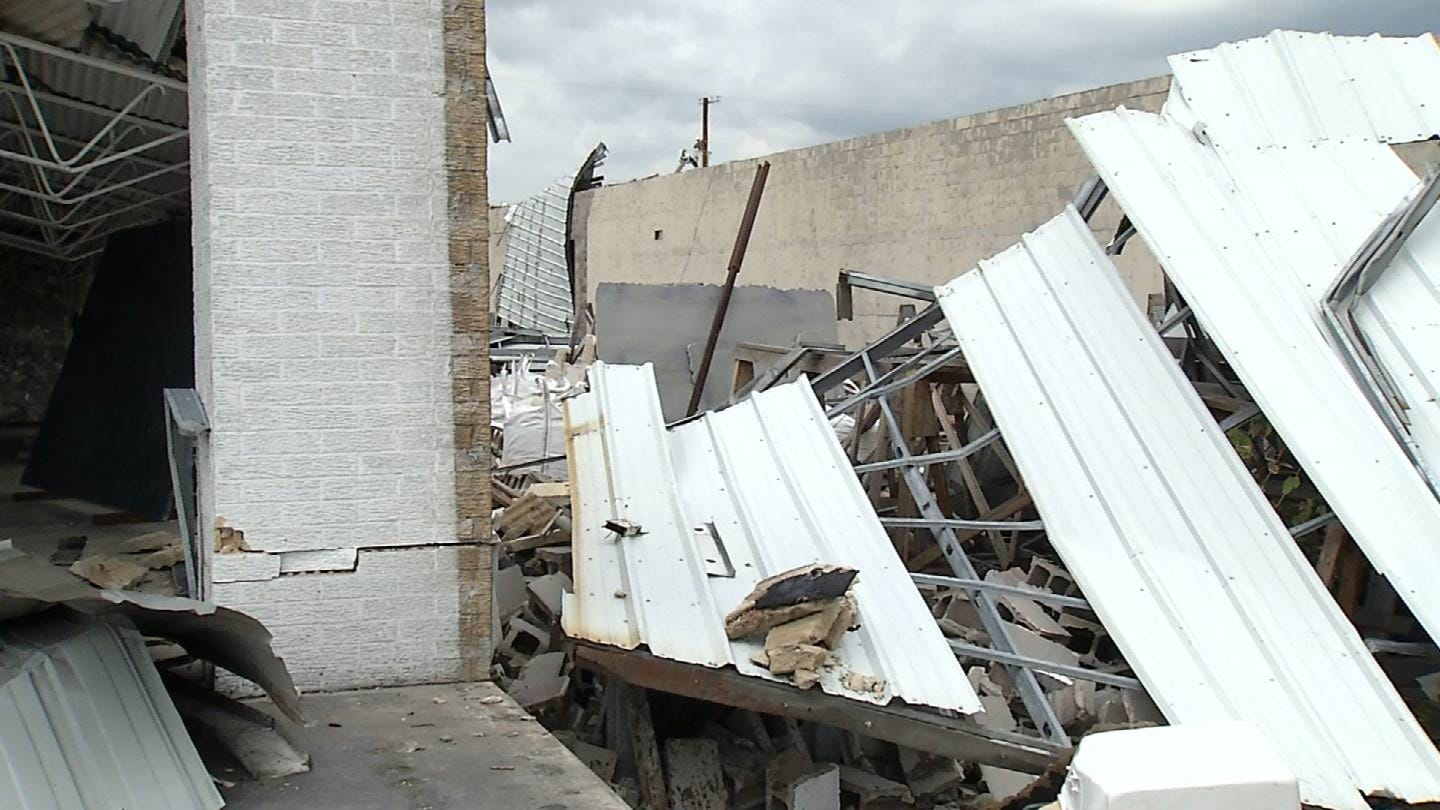 Tulsa Businesses Continue Cleanup After Tornado