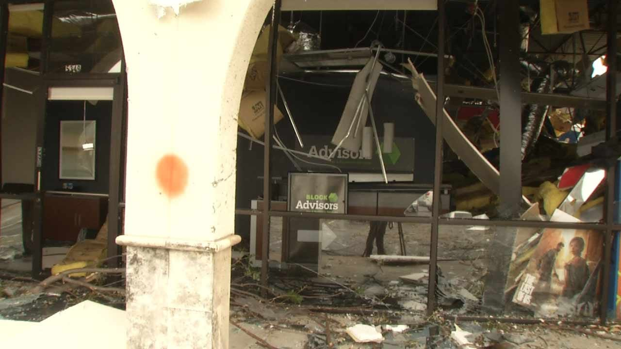 Tulsa Employees Not Allowed Inside Tornado Damaged Buildings