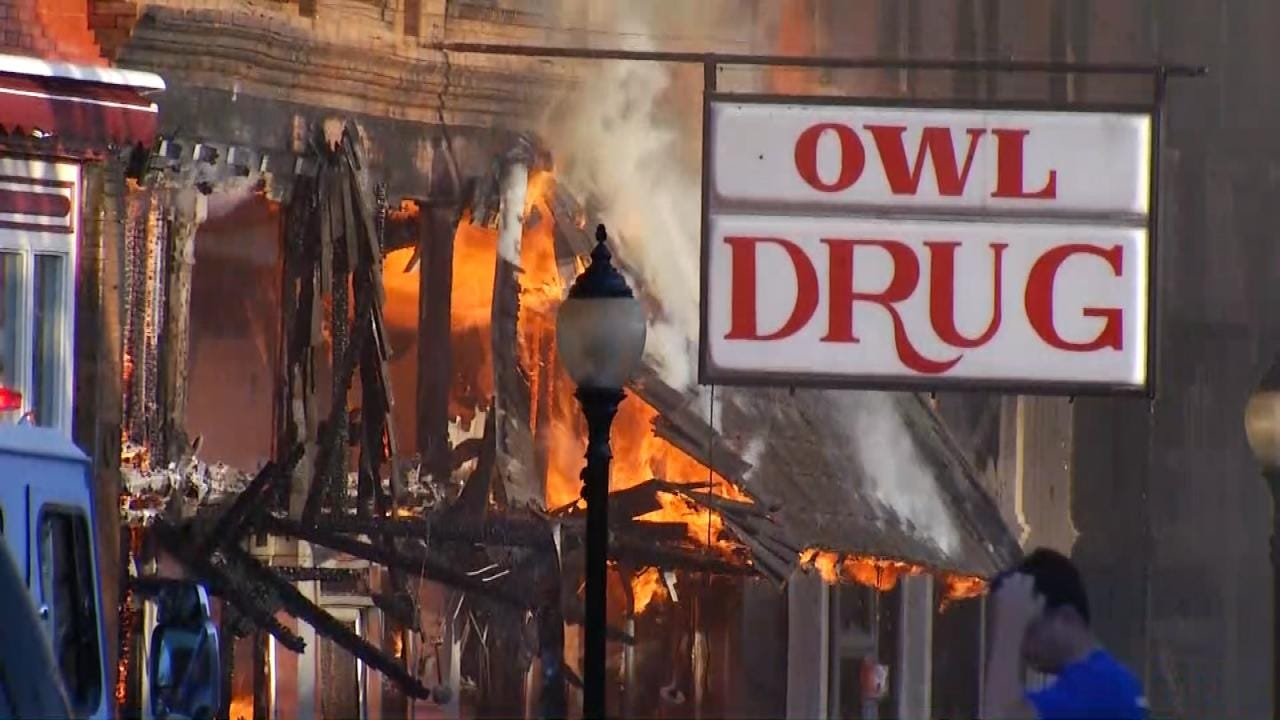 Wagoner Drug Store Destroyed In Fire, To Re-Open In New Location