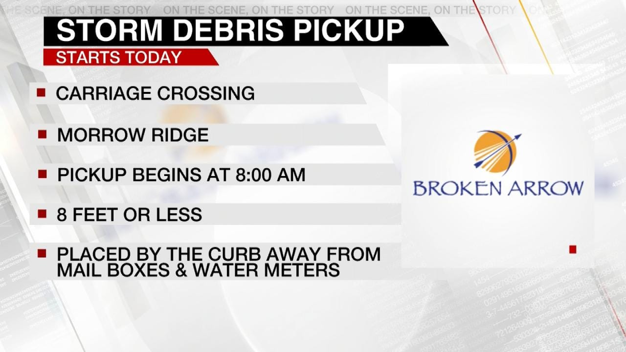 Broken Arrow Announces Storm Debris Pickup Schedule