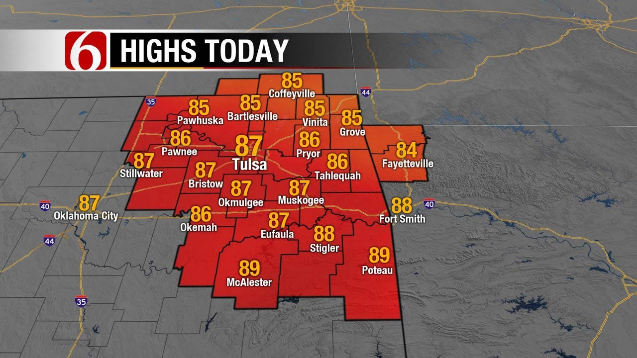 Chance For Rain, Storms Increasing Across Eastern Oklahoma