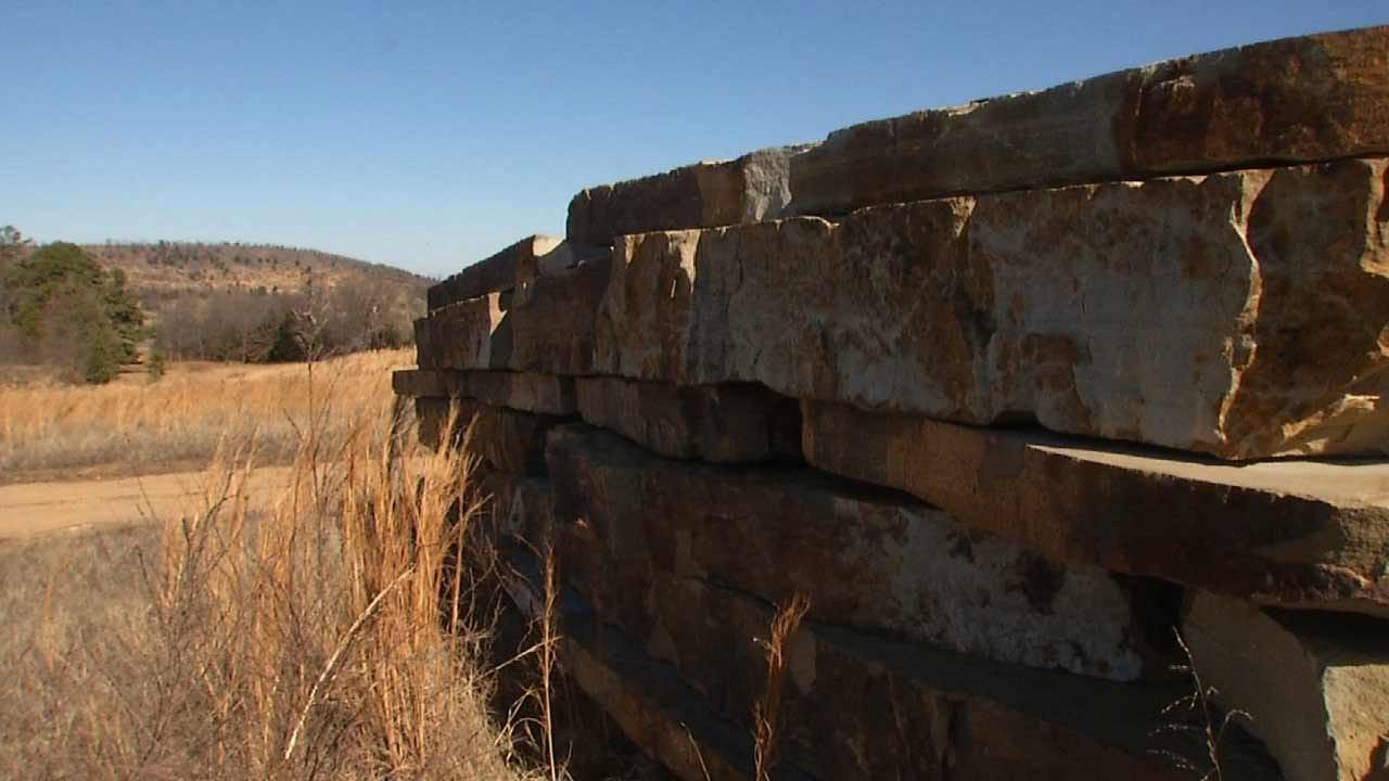 Native Stonework Making Tulsa's Gathering Place Distinctly Oklahoman