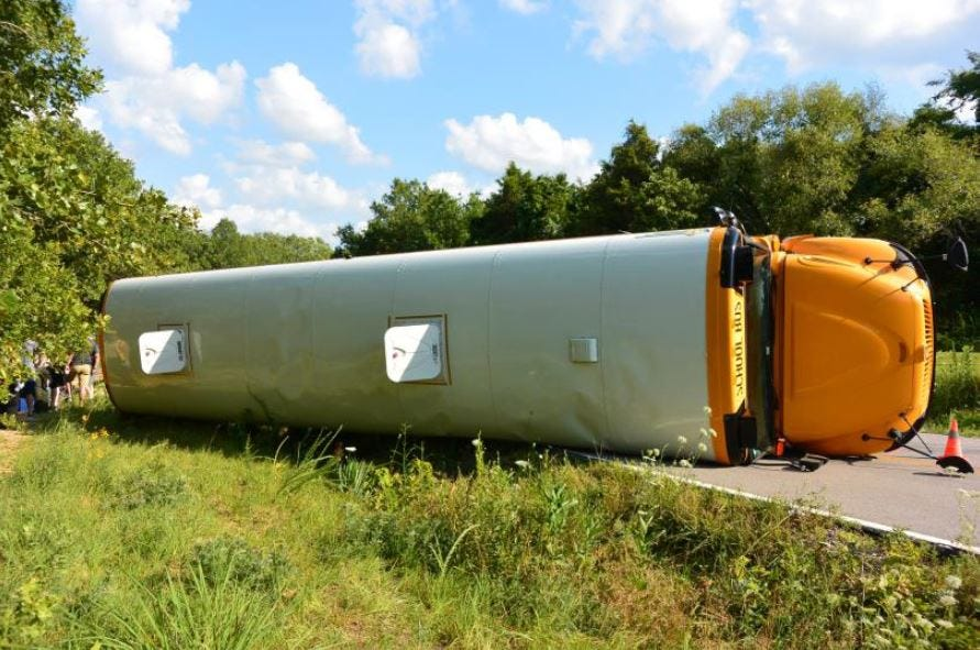 14 Kids Injured After BA Church Bus Crashes In Missouri