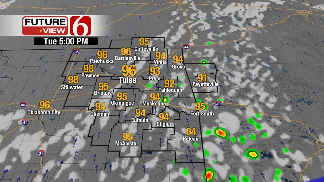 Continued Hot And Humid Across Eastern Oklahoma