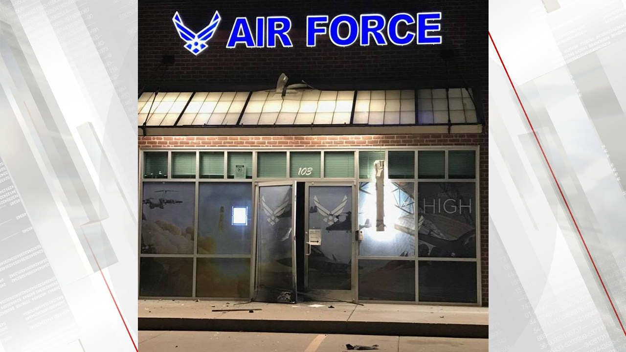 Explosion Damages Bixby Air Force Recruiting Office