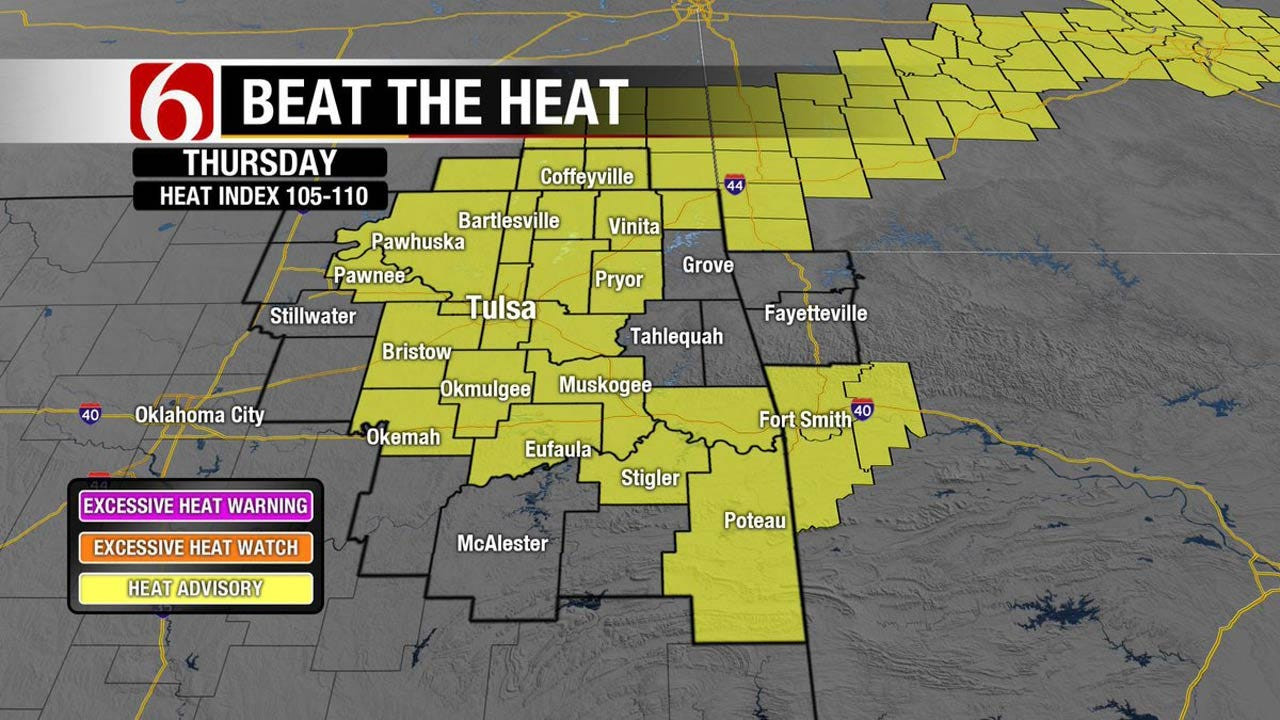 Another Heat Advisory Issued For Eastern Oklahoma