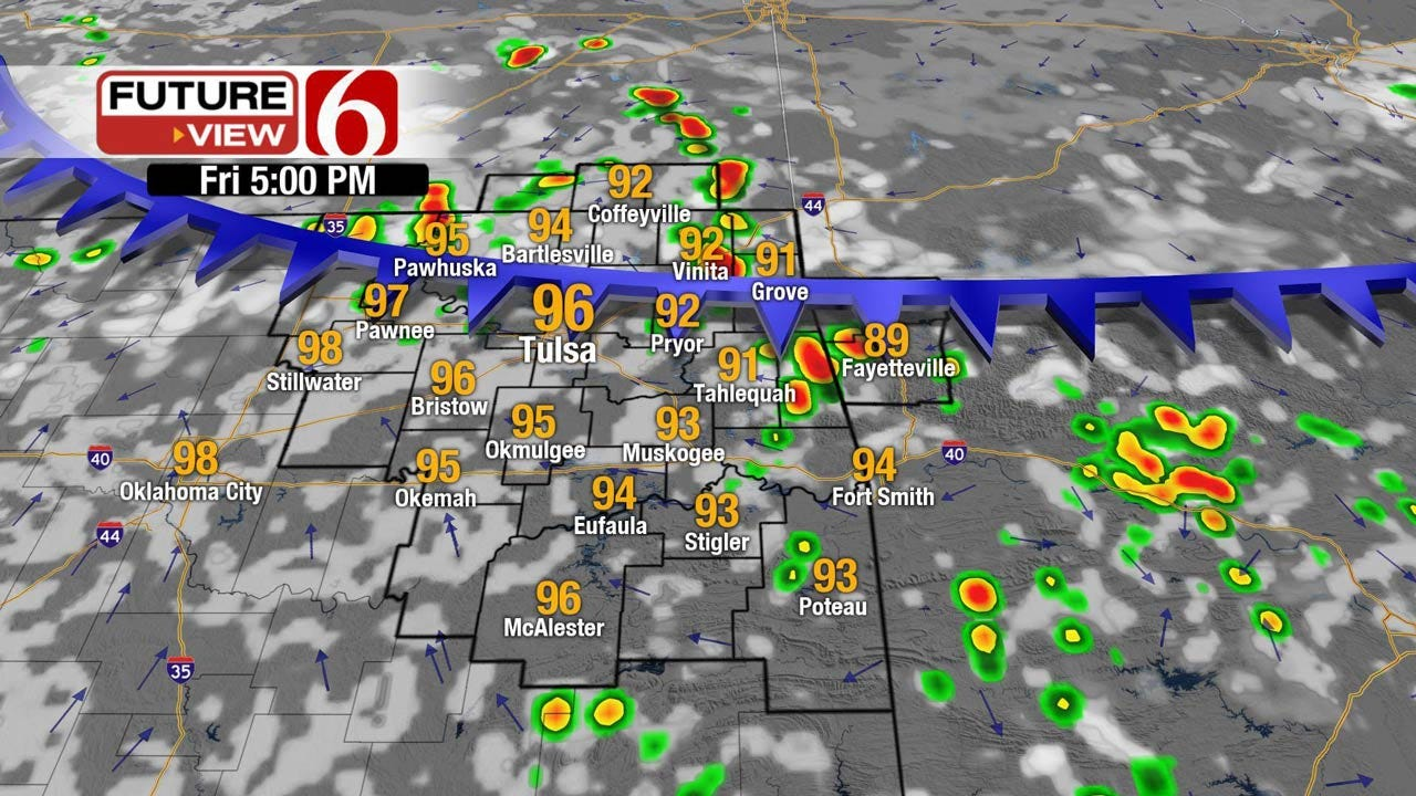 Front Brings Showers To Northeast Oklahoma