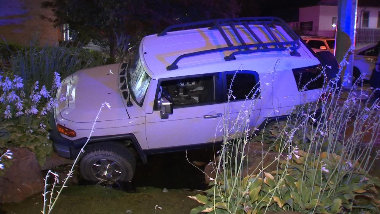 Distracted Driver Crashes SUV Into Tulsa Water Fountain