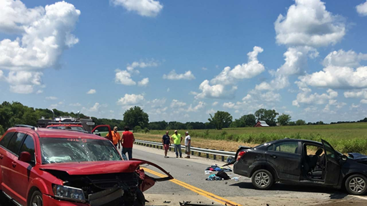 Head-On Crash Kills Woman, Boy Outside Haskell