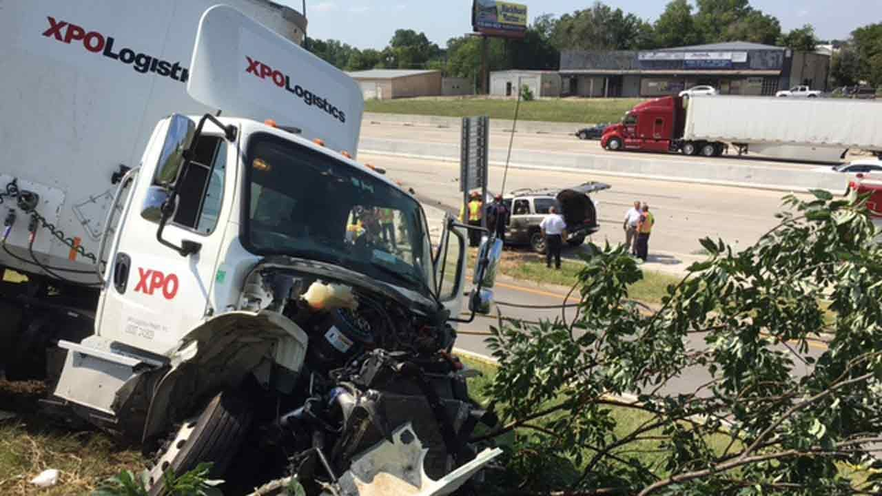 Two Hospitalized After Wrong-Way Tulsa Driver Slams Into Semi