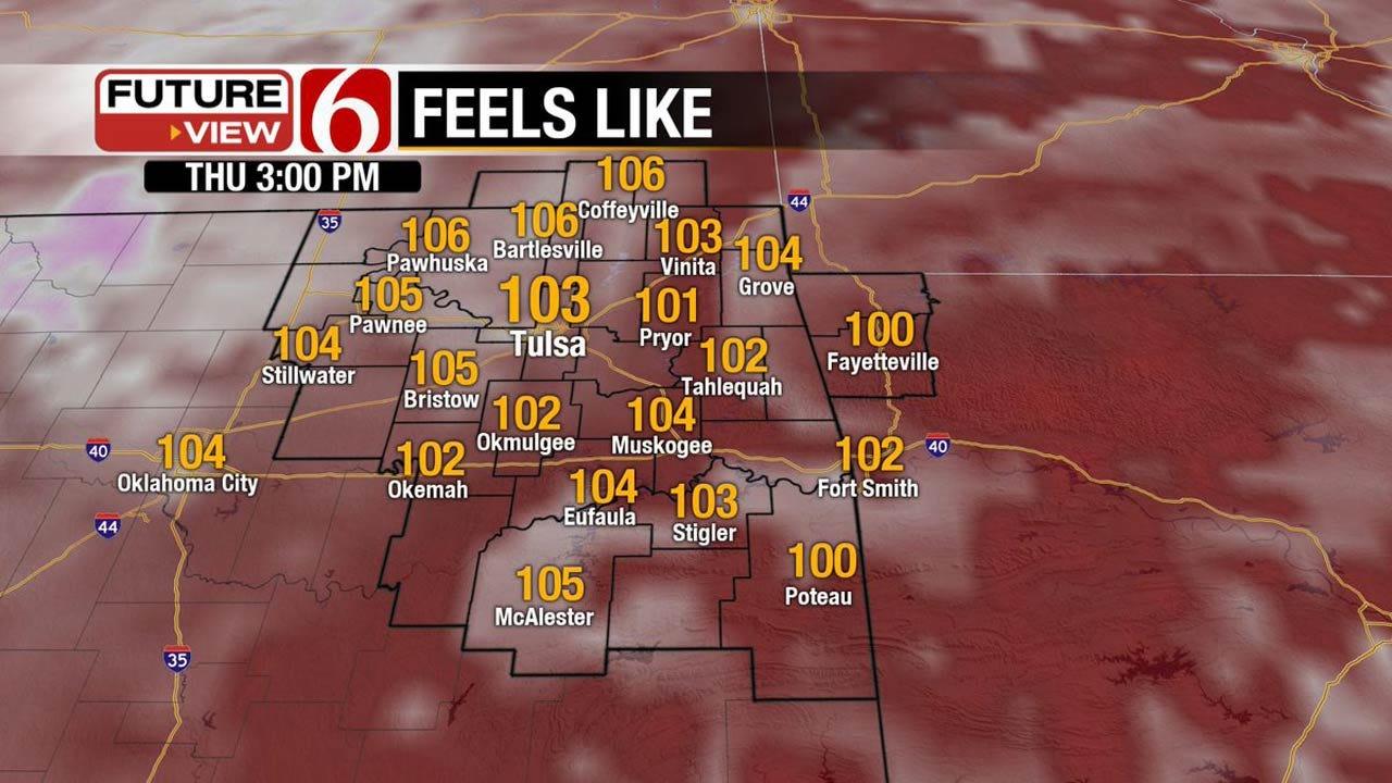Heat Advisory Issued For Eastern Oklahoma