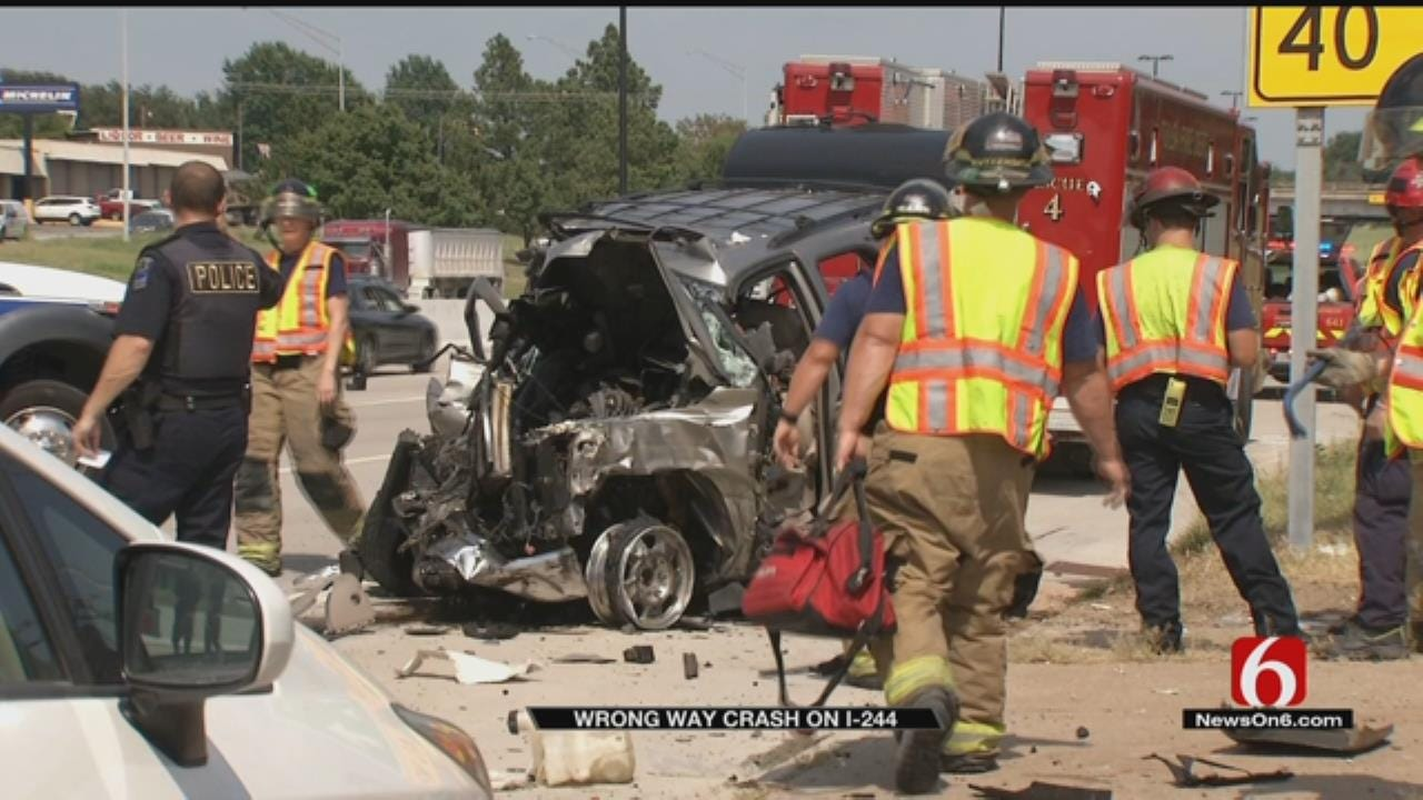 OHP: Wrong-Way Driver Dies One Day After Hitting Truck On Tulsa Highway
