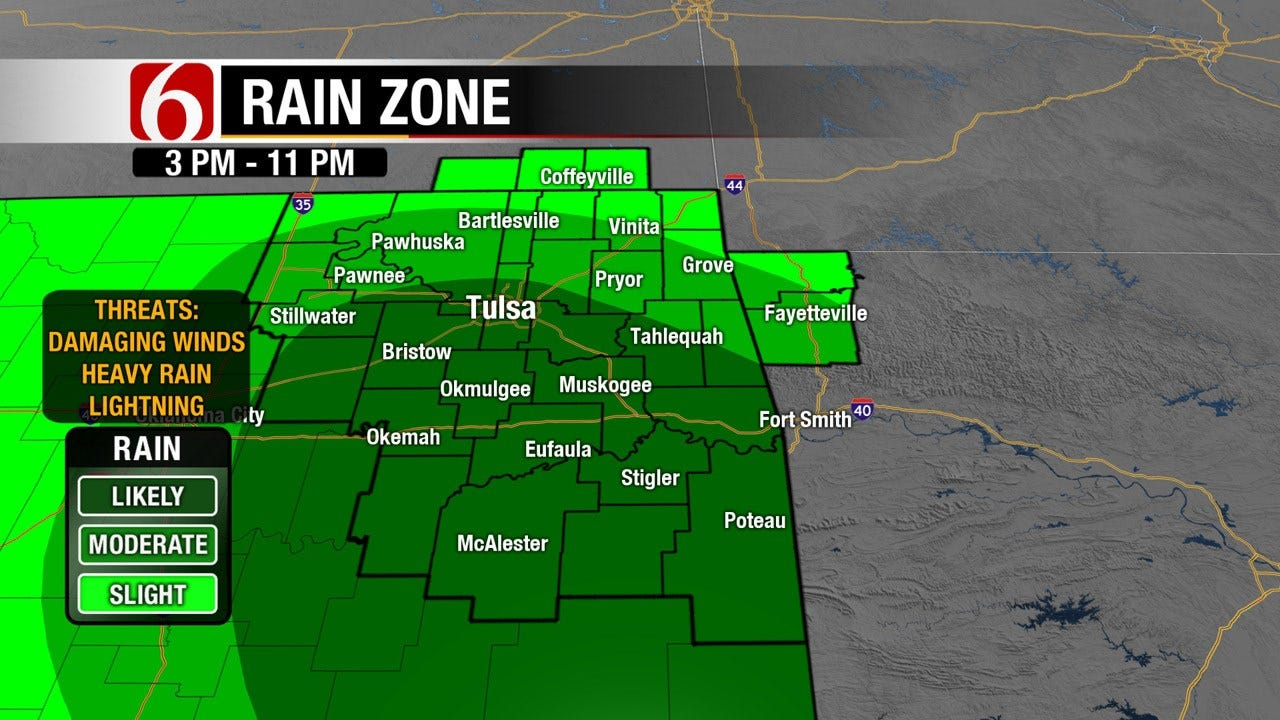 NE Oklahoma Storm Chances Could Impact Holiday Plans