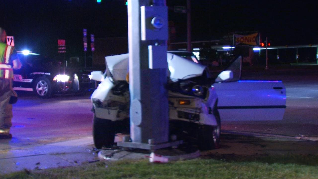 Driver Going 100 MPH Just Prior To Hitting Pole, Catoosa Police Say
